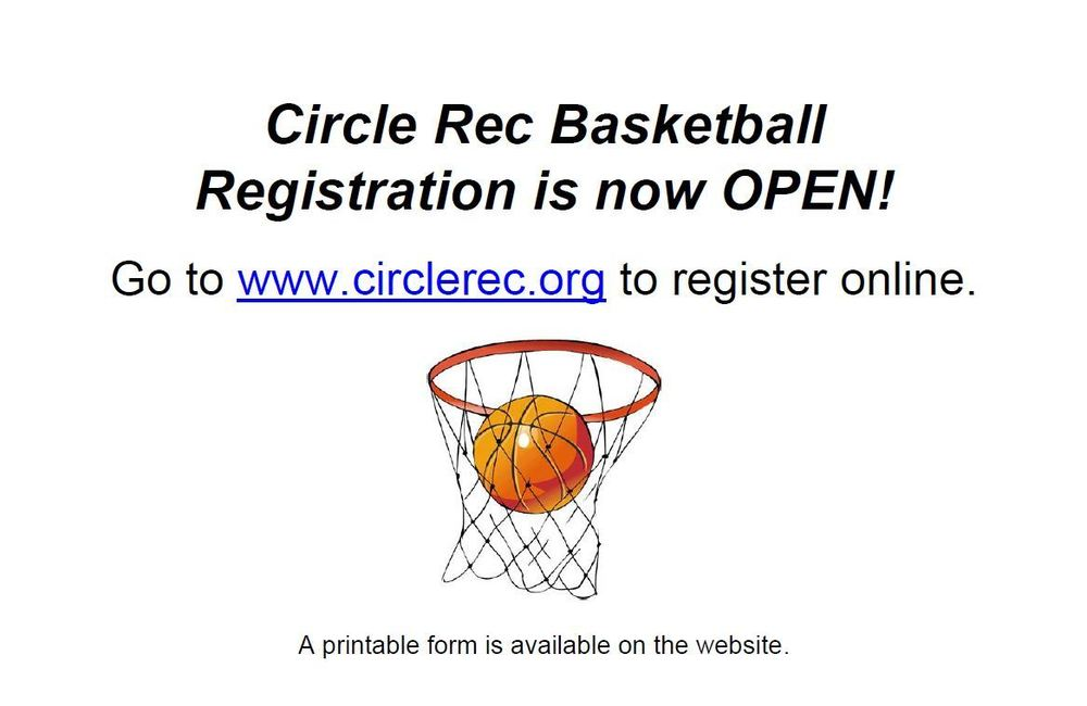 Circle REC Basketball Registration