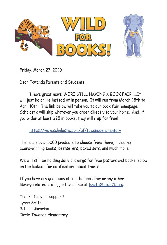 CTE Book Fair Online #thrivein375