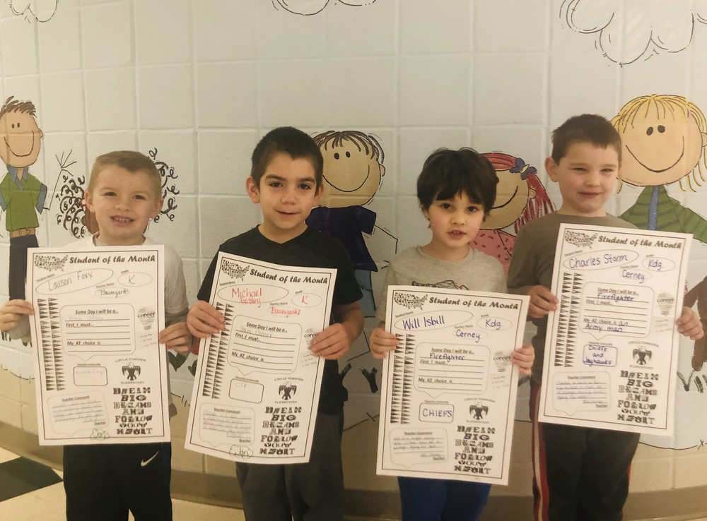 January Student of the Month - Kindergarten  #thrivein375