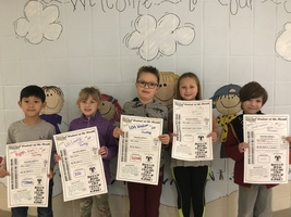 1st grade - Students of the Month for December #thrivein375