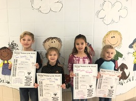 Student of the Month for February - Kindergarten  #thrivein375