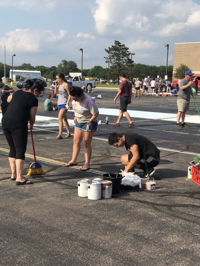 Senior Parking Space Painting!!!