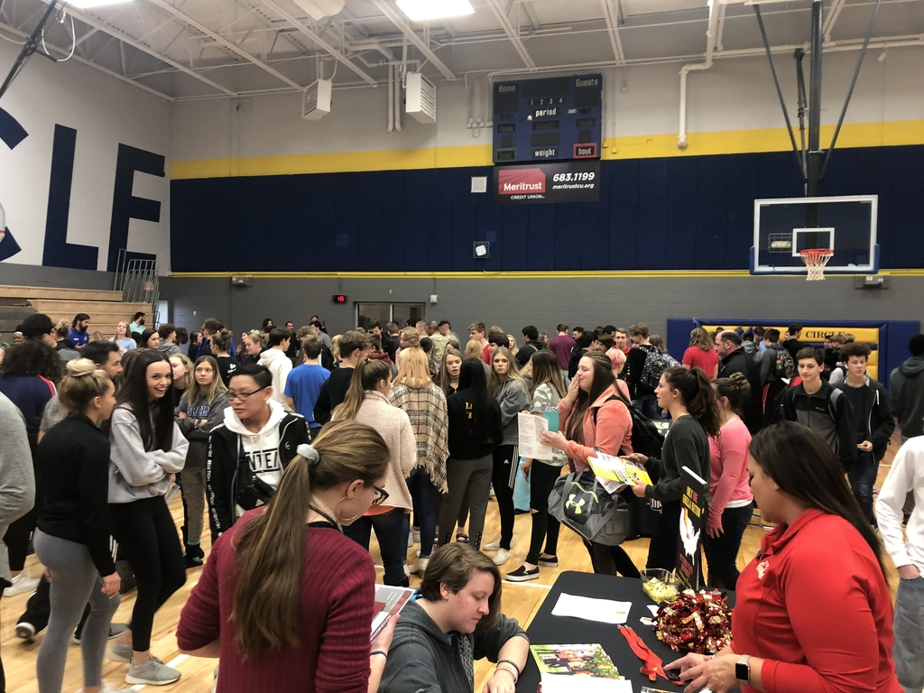 College Fair at the high school today.  Great opportunity for our students.