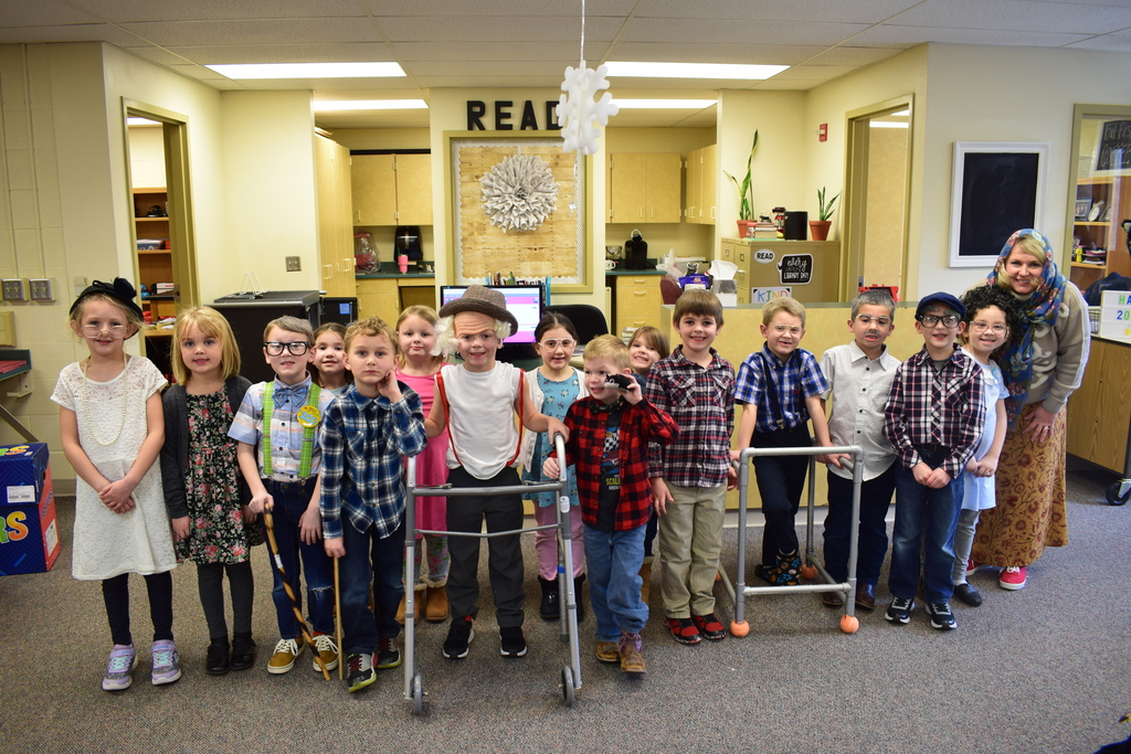 100th Day Kindergartners